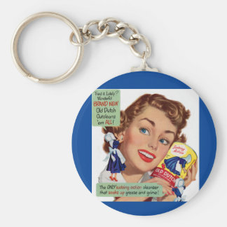 Old Dutch Cleanser lady Basic Round Button Key Ring