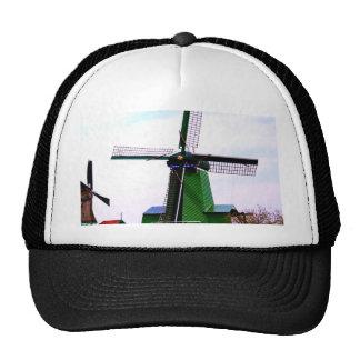 Old dutch historical power wind mill trucker hat