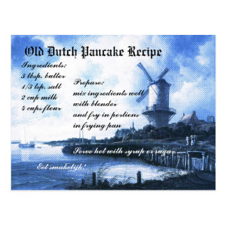 Old Dutch Pancake Recipe Card