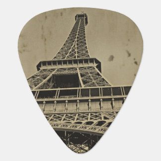 Old Eiffel Tower Photo Guitar Pick