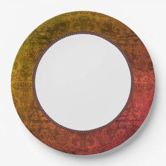 OLD-Elegance-Damask-EVERYDAY-CELEBRATE 9 Inch Paper Plate