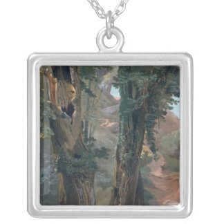 Old Elms, c.1835 Silver Plated Necklace