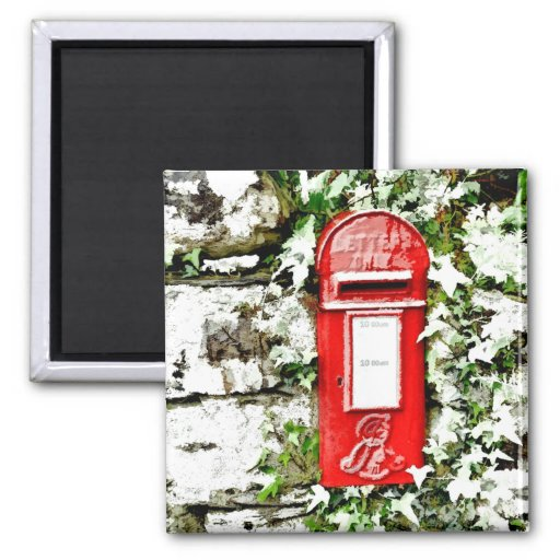 OLD ENGLAND - MAIL BOX UK REFRIGERATOR MAGNET