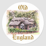 OLD ENGLAND THATCHED COTTAGES UK STICKERS