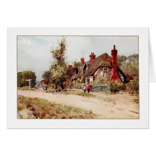 Old English Cottage by Wilfrid Ball on Cards