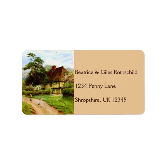 Old English Country Cottage Address Labels