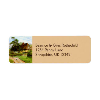 Old English Country Cottage Return Address Labels