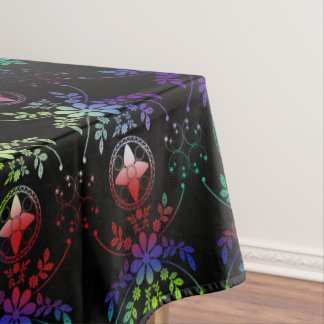 Old English Floral Multi Colored Tablecloth