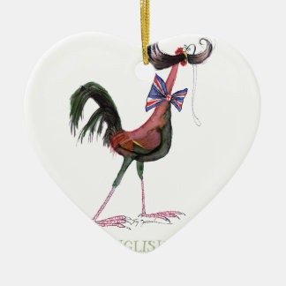 OLD ENGLISH GAME HEN, tony fernandes Ceramic Heart Decoration