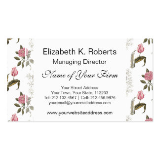Old English Garden Vintage Floral Pattern Business Card Templates