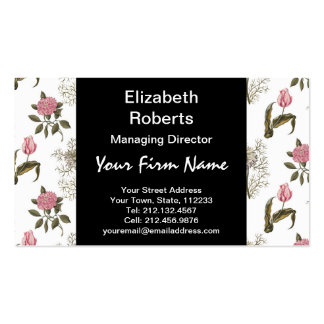 Old English Garden Vintage Floral Pattern Double-Sided Standard Business Cards (Pack Of 100)