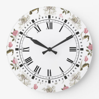 Old English Garden Vintage Floral Pattern Wall Clocks