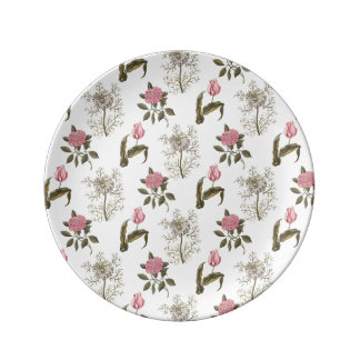Old English Garden Vintage Floral Pattern Porcelain Plate