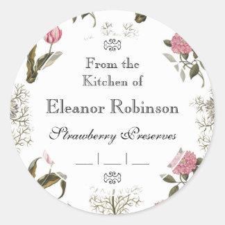 Old English Garden Vintage Floral Pattern Round Sticker