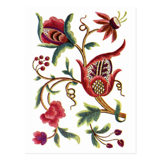 Old English Jacobean Embroidery Postcard