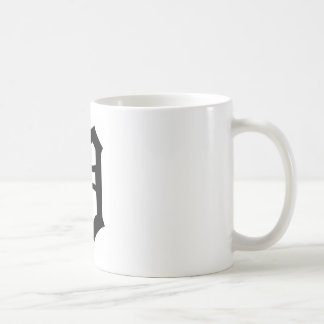 Old English Letter D Basic White Mug