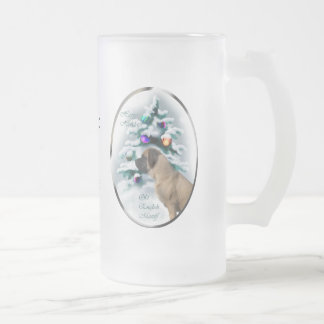 Old English Mastiff Christmas Gifts Frosted Glass Mug