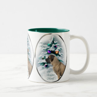 Old English Mastiff Christmas Gifts Two-Tone Coffee Mug