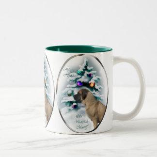 Old English Mastiff Christmas Gifts Two-Tone Mug