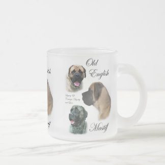 Old English Mastiff Gifts Frosted Glass Coffee Mug