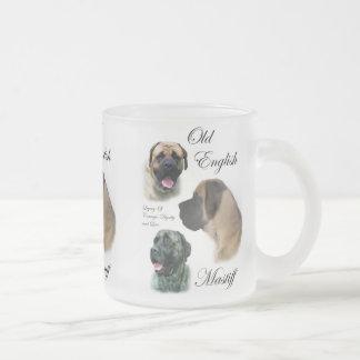 Old English Mastiff Gifts Frosted Glass Mug