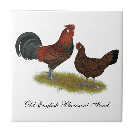 Old English Pheasant Fowl Tile