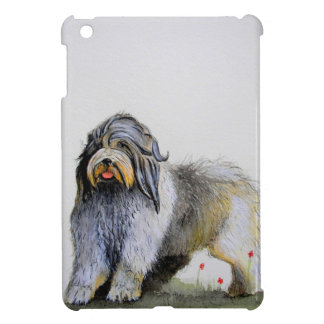 Old English Sheep Dog puppy and poppies iPad Mini Covers