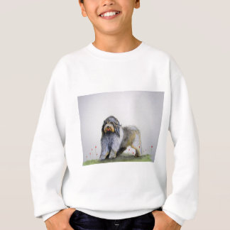 Old English Sheep Dog puppy and poppies Sweatshirt