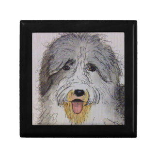 Old English Sheep Dog puppy Gift Box