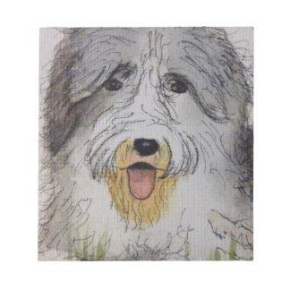 Old English Sheep Dog puppy Notepad