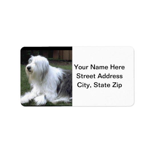 Old English Sheepdog Address Label