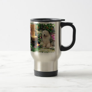 Old English Sheepdog Art Gifts Travel Mug