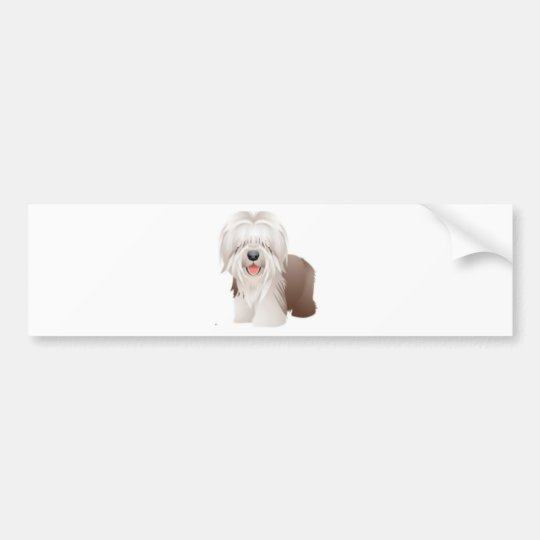 Old English Sheepdog Bumper Sticker
