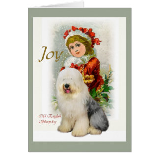 Old English Sheepdog Christmas Gifts Card