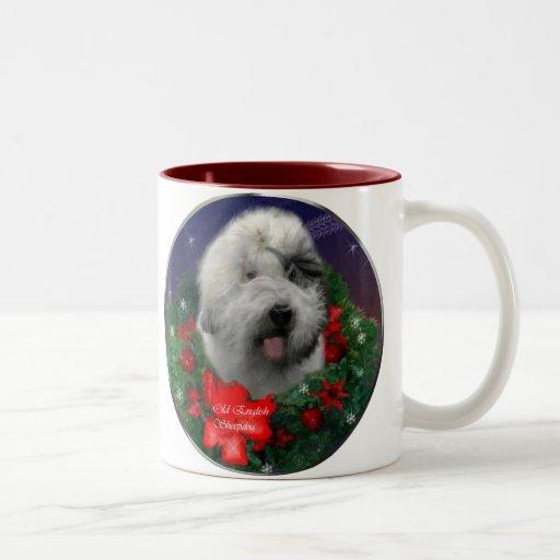 Old English Sheepdog Christmas Gifts Mug