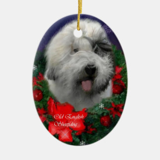 Old English Sheepdog Christmas Gifts Ornament