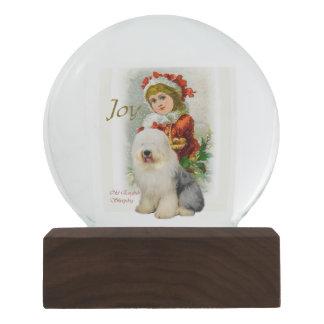 Old English Sheepdog Christmas Snow Globes