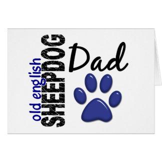 Old English Sheepdog Dad 2 Greeting Card