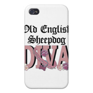 Old English Sheepdog DIVA Case For iPhone 4