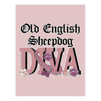 Old English Sheepdog DIVA Postcards