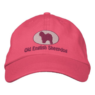 Old English Sheepdog Embroidered Hat (Pink)