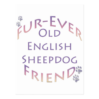 Old English Sheepdog Fur-ever Friend Post Cards