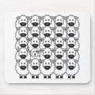 Old English Sheepdog in the Sheep Mouse Mat