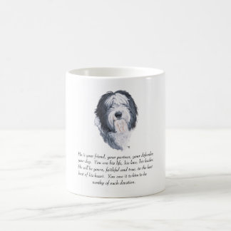 Old English Sheepdog Keepsake - Male Coffee Mug