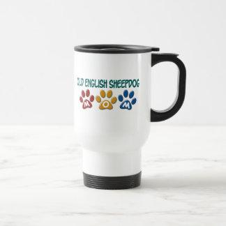 OLD ENGLISH SHEEPDOG Mom Paw Print 1 Travel Mug