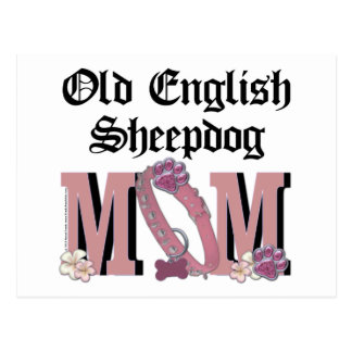Old English Sheepdog MOM Post Cards