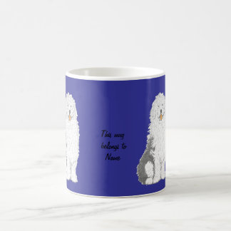 Old English Sheepdog Mugs,  add name Coffee Mug