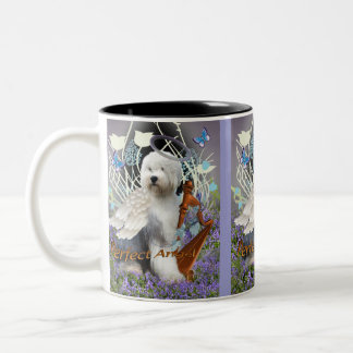 Old English Sheepdog Perfect Angel Two-Tone Coffee Mug