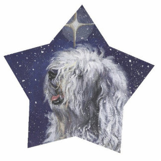 Old English Sheepdog pin Photo Sculpture Badge