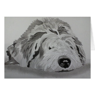"Old English Sheepdog  ""RAGS"" Card"